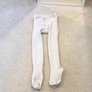 Gap Toddler Bear Cable Knit Tights Oat 4-5